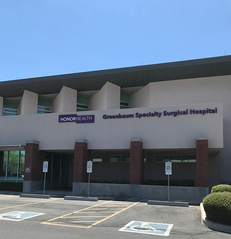 Front entrance HonorHealth Greenbaum Surgical Specialty Hospital